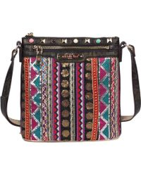 Nicole Lee - Heloise Fabric Embroidered Cross Body Bag - Lyst