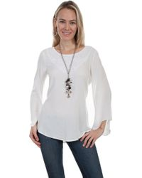 Scully - Bell Sleeve Tunic Hc283 - Lyst