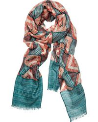 San Diego Hat Company - Woven Geometric All Over Print Scarf Bss1731 - Lyst