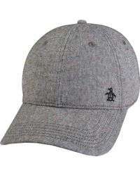 5ab15fe9e07 Original Penguin - Color Flecked Baseball Cap - Lyst