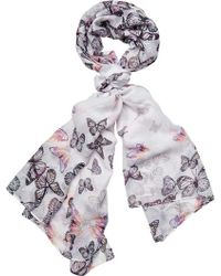 f9fc5791969bb San Diego Hat Company - Woven Scattered Butterfly Print Scarf Bss1735 - Lyst