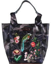 Nicole Lee - Krissy Camouflage Embroidery Shopper Bag - Lyst