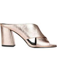 13df4681d4d Lyst - MICHAEL Michael Kors Ariel Platform Crisscross Sandal in Brown