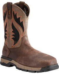 Ariat - Rebar Western Venttek Composite Toe Work Boot - Lyst