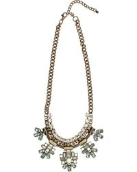 San Diego Hat Company - Rhinestone Geometric Statement Necklace Bsj3508 - Lyst