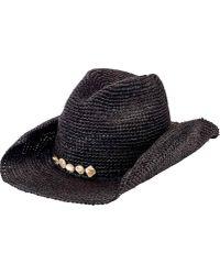 San Diego Hat Company - Crochet Raffia Cowboy Hat With Beaded Trim Rhc1080  - Lyst 44c9b49c1376