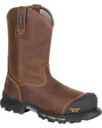 "Georgia Boot - Gb00286 10"" Rumbler Comp Toe Waterproof Work Boot - Lyst"