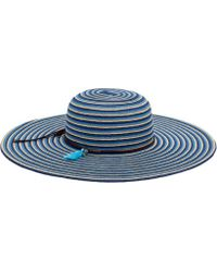 San Diego Hat Company - Striped Floppy With Tassel/beads Sun Hat Ubl6812 - Lyst