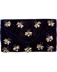 San Diego Hat Company - Velvet Clutch With Bug Details Bsb3547 - Lyst