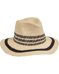 San Diego Hat Company - Fedora With Pop Color Stripes Pbf7311 - Lyst