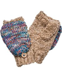 San Diego Hat Company - Fingerless Glove With Contrast Mitten Top Kng3466 - Lyst