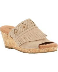 Walking Cradles - Aniston Cork Wedge Sandal - Lyst