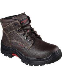 Skechers - Work Burgin Tarlac Steel Toe Boot - Lyst