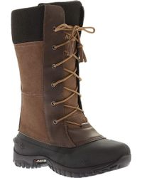 9a2c162c4 Lyst - Tory Burch Dana Shearling-Lined Suede Logo Tall Boot in Brown
