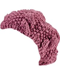 San Diego Hat Company - Crochet Knit Cable Beret Knh3473 - Lyst