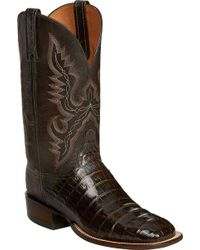 Lucchese Bootmaker   Trent W Toe Cowboy Boot   Lyst