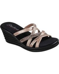 Skechers - Rumblers Wave New Lassie Slide Wedge Sandal - Lyst