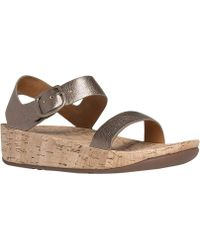 Fitflop - Bon Backstrap Wedge Sandal - Lyst