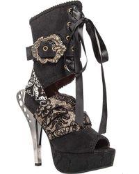 hades - Luna Ankle Tie Sandal - Lyst
