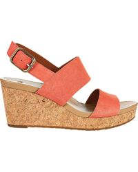 Elena II Suede Wedge Sandals