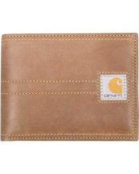 Carhartt - Legacy Passcase Full Grain Leather Wallet - Lyst