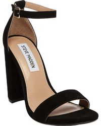 79a0167526e Lyst - Steve Madden Imelda Marabou Sandal in Black