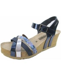 Mephisto Wo Wedges Blue Blue