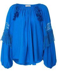 Ulla Johnson   Duman Blouse Azul   Lyst