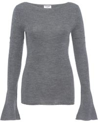 FRAME - Rugby Bell Sweater Gris - Lyst