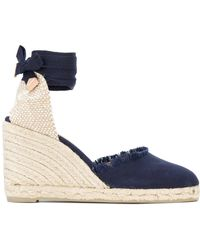88129a34cdc Lyst - Castaner Canela Denim Wedge Espadrilles in Blue