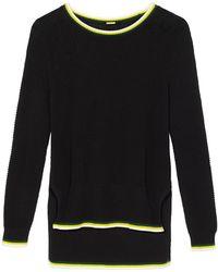 Adam Lippes - Black Crewneck Sweater - Lyst
