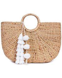Jade Tribe - White Tasseled Basket Bag - Lyst