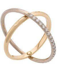 Charlotte Chesnais - Gold Elipse Ring - Lyst