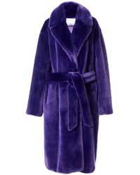 Tibi - Purple Luxe Faux Fur Oversized Coat - Lyst