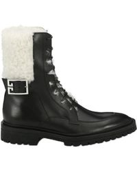 Givenchy - Aviator Shearling-lined Ankle Boots - Lyst