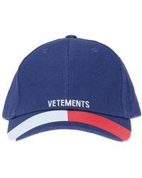 Vetements - Blue Tommy Cap - Lyst