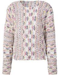 Adam Lippes - Boat Neck Tweed Sweater - Lyst