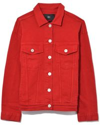 3x1 - Oversized Classic Jacket In Apple Red - Lyst