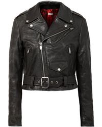 RE/DONE - Moto Racer Leather Jacket - Lyst