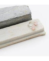 Saskia Diez - Rose Quartz Sling Ring - Lyst