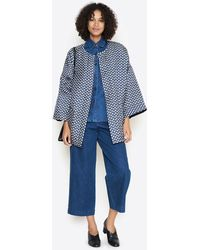 Creatures of Comfort - Henry Denim Wide Leg Pleated Pant - Lyst