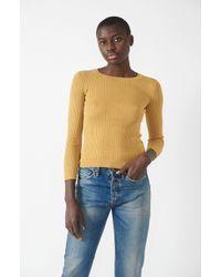 Une Heures - Long Sleeve Crewneck Sweater - Lyst