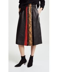 Belstaff | Joella Leather Skirt With Mosaic Print | Lyst