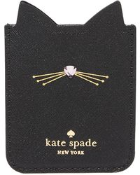 Kate Spade - Embellished Cat Adhesive Phone Pocket - Lyst