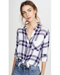 Rails Hunter Button Down Shirt - Blue
