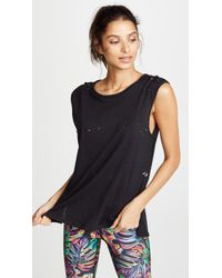 Terez - Distressed Muscle Tank - Lyst