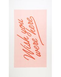 Ban.do - Wish You Were Here Towel - Lyst