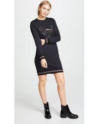 COACH - Rexy Sweatshirt Dress - Lyst