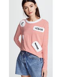 Michaela Buerger - Long Sleeve Striped Tee With Patches - Lyst