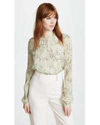 Giambattista Valli - Sheer Blouse - Lyst